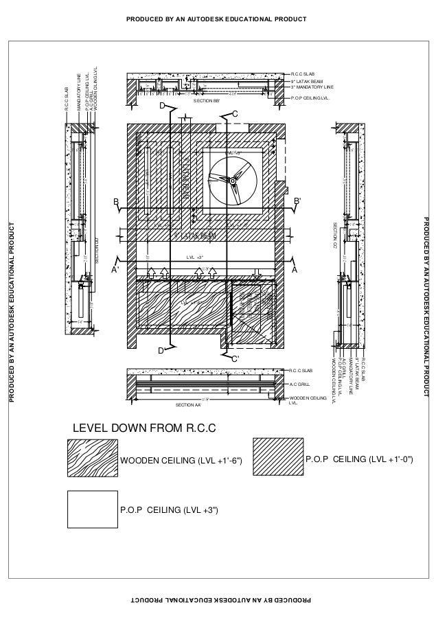 False Ceiling Plan Elevation Section : False ceiling plan and section energywarden