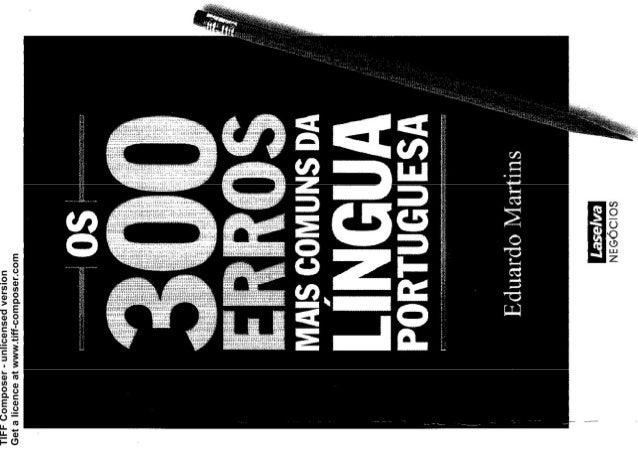 300 erros de língua portuguesa