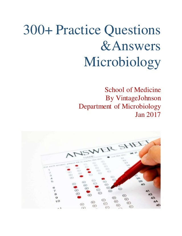 Microbiology sample exam questions