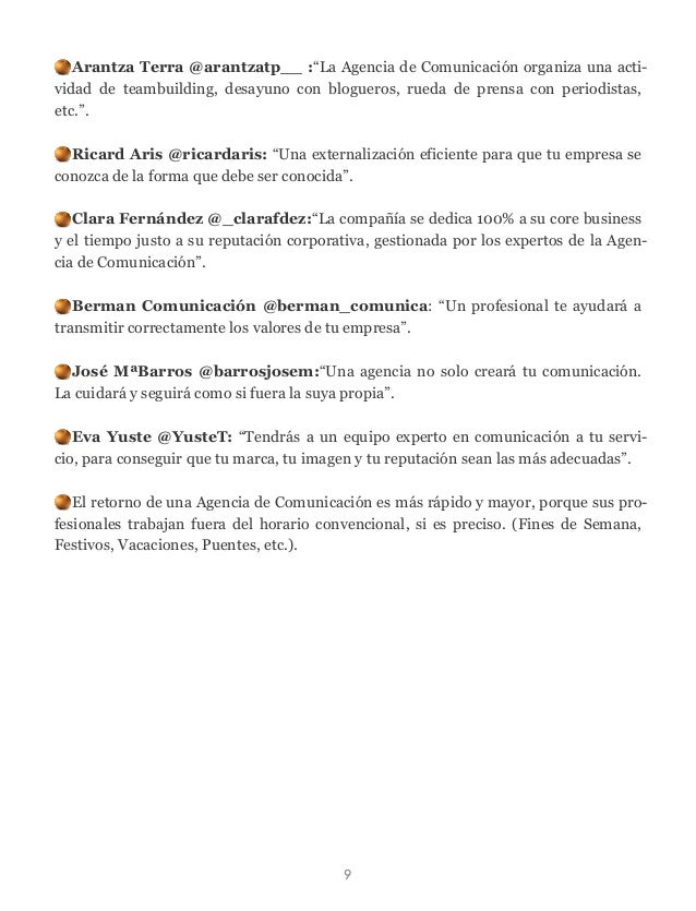 """Arantza Terra @arantzatp__ :""""La Agencia de Comunicación organiza una acti- vidad de teambuilding, desayuno con blogueros, ..."""