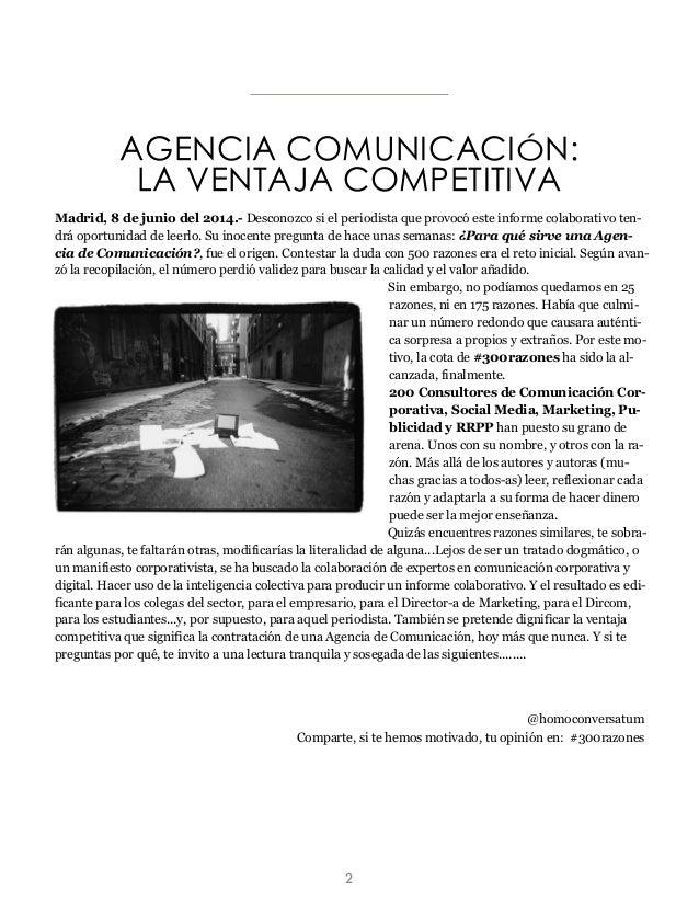 Madrid, 8 de junio del 2014.- Desconozco si el periodista que provocó este informe colaborativo ten- drá oportunidad de le...