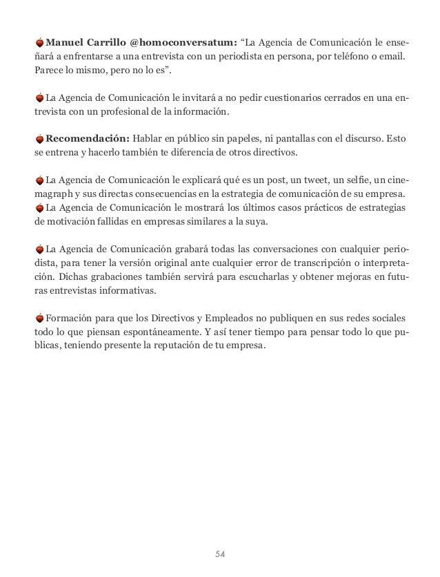 """Manuel Carrillo @homoconversatum: """"La Agencia de Comunicación le ense- ñará a enfrentarse a una entrevista con un periodis..."""