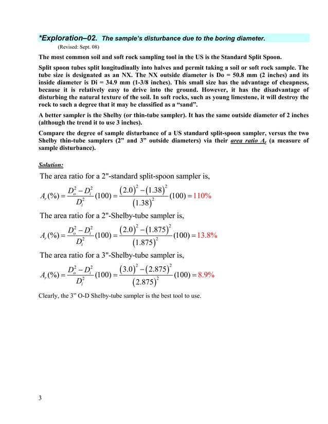 4 *Exploration–03. Correcting the SPT for depth and sampling method. (Revision Sept-08) A standard penetration test (SPT) ...