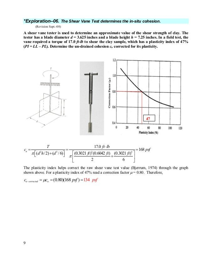 10 *Exploration–07. Reading a soil boring log. (Revision Sept.-08) Read the boring log shown below and determine, (1) the ...