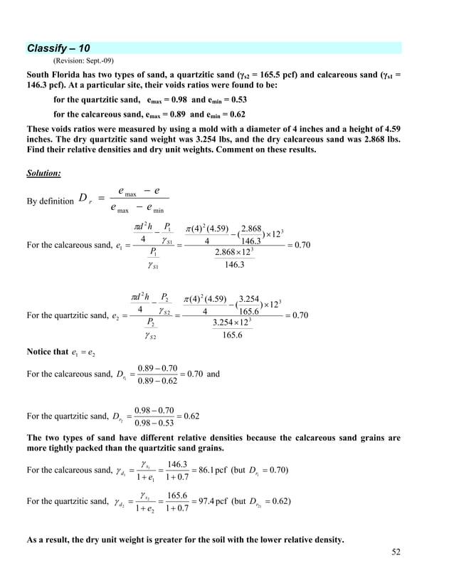 53 Classify – 11 (Revision: Sept.-09) Prove that emin = 0.35. 3 3 3 3 0.1179 0.1179(2 ) 0.943 4 3 tetr sphere V a R R V Rπ...