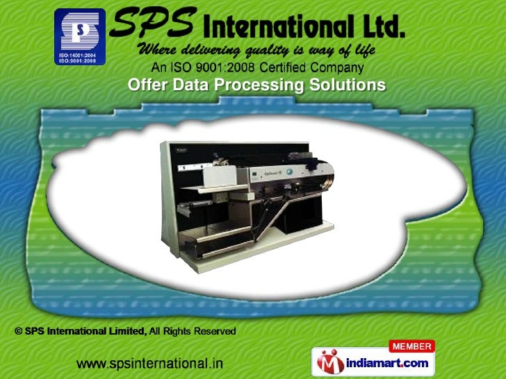 Offer Data Processing Solutions