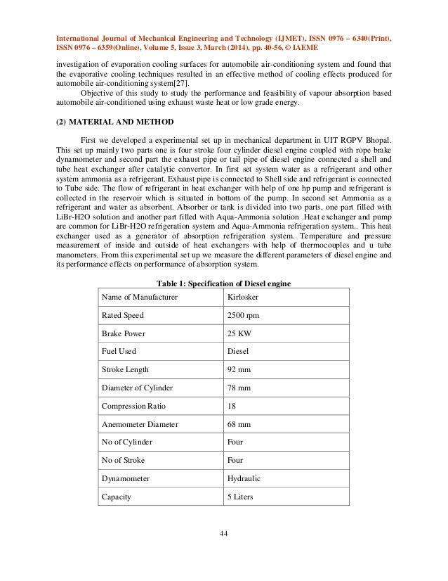 Automobile ac by utilising waste heat gases