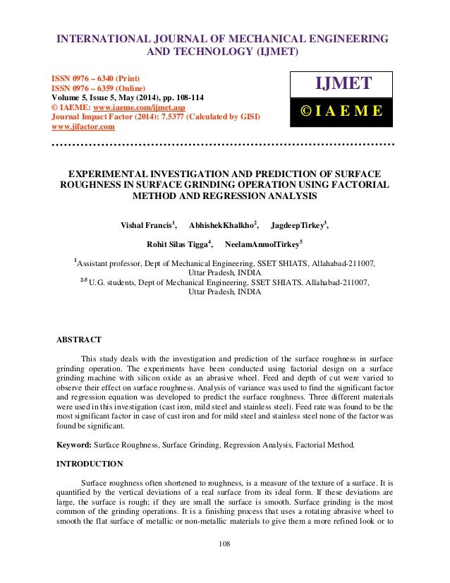International Journal of Mechanical Engineering and Technology (IJMET), ISSN 0976 – 6340(Print), ISSN 0976 – 6359(Online),...