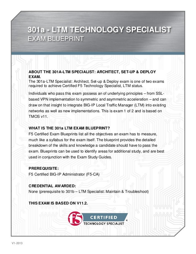 301A Exam - Newly Released Exam By F5 Networks