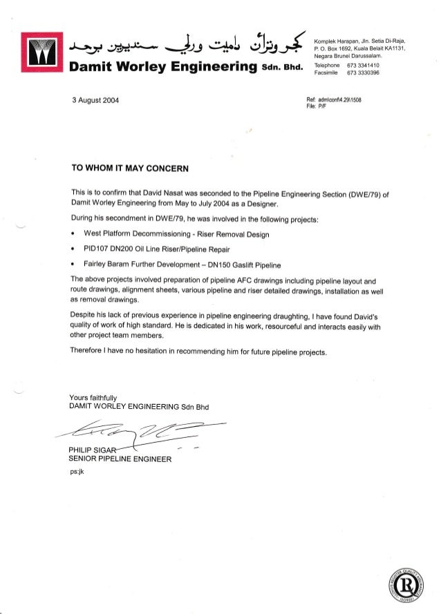 06 Recommendation Letter From HOD Pipeline Damit
