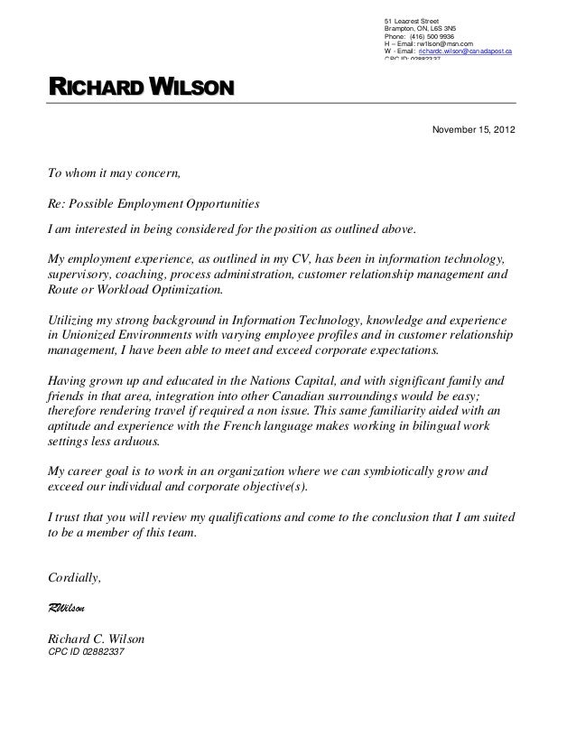 richard wilson cpc resume
