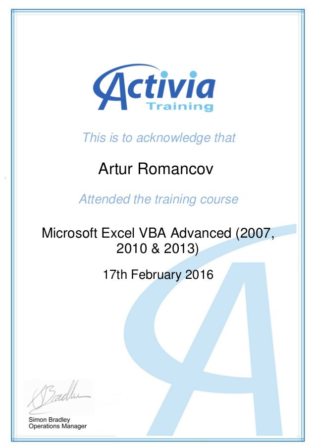 Itcertificatesaromancov