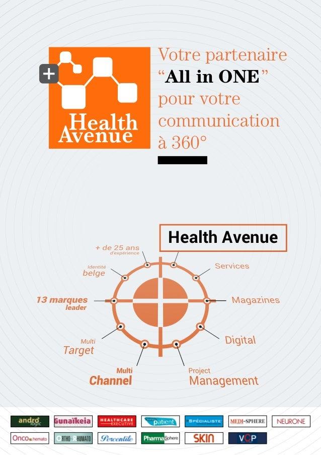"""Health Avenue Votre partenaire """"All in ONE"""" pour votre communication à 360°"""