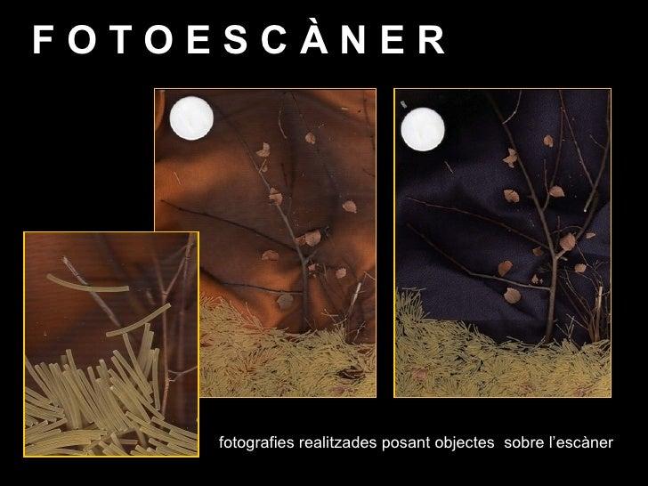 F O T O E S C À N E R <ul><li>fotografies realitzades posant objectes  sobre l'escàner </li></ul>