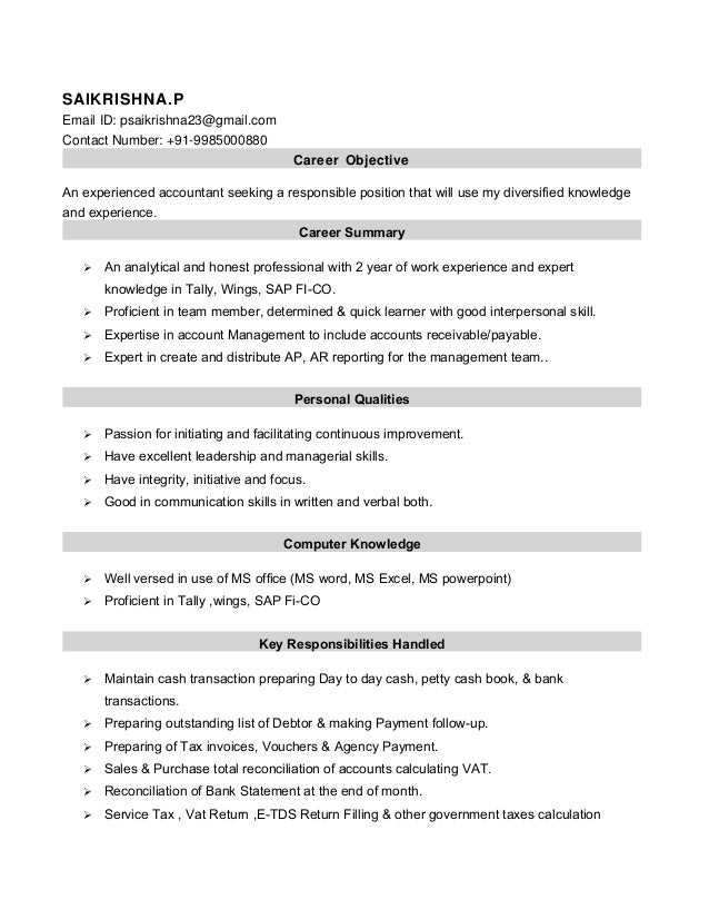 Accountant Resume..