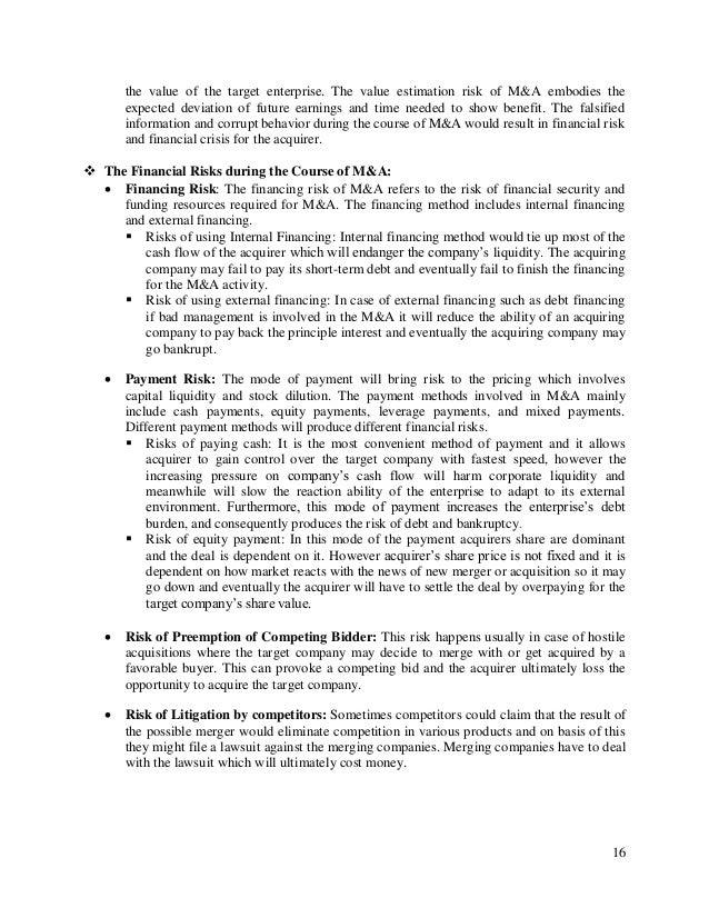 risk management case study pdf