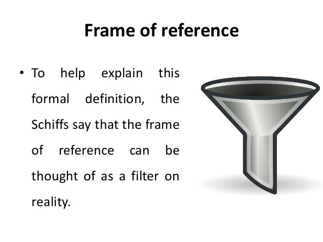 five organizational frames of reference An observational frame of reference, often referred to as a physical frame of reference, a frame of reference, or simply a frame.