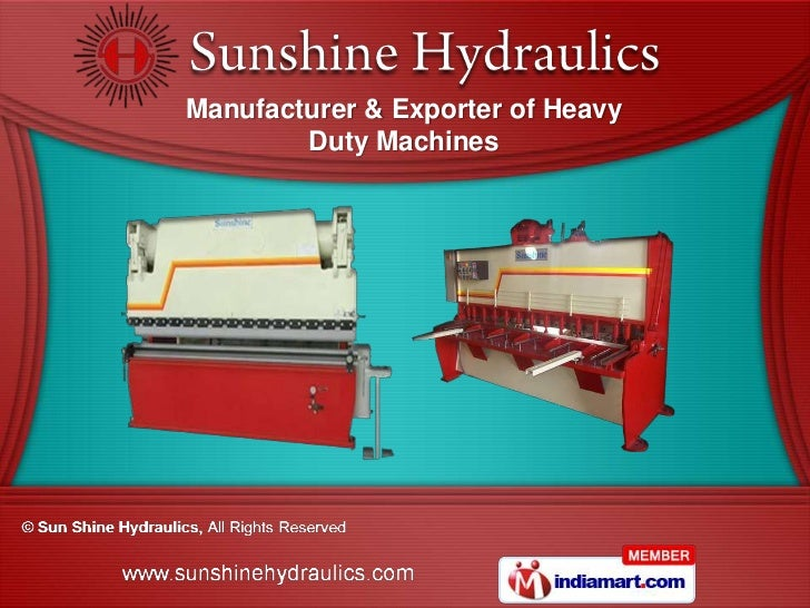 Manufacturer & Exporter of Heavy        Duty Machines