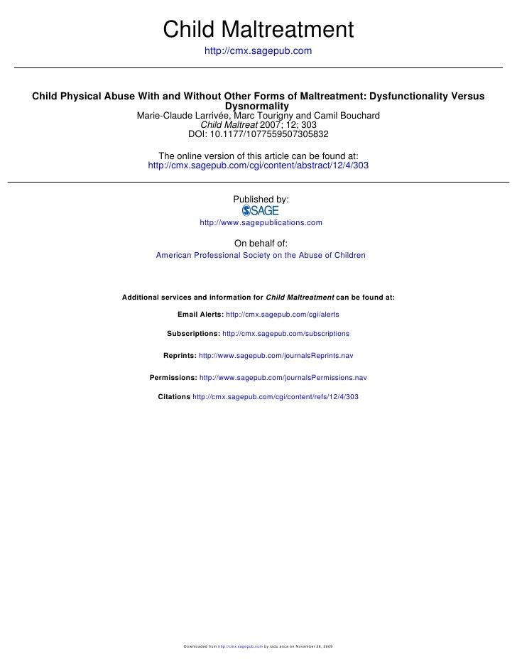 Child Maltreatment                                            http://cmx.sagepub.com    Child Physical Abuse With and With...