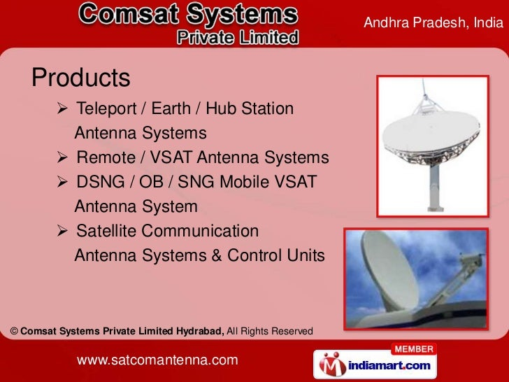 Remote & VSAT Antenna Systems by Comsat Systems Private Limited (Hydr…