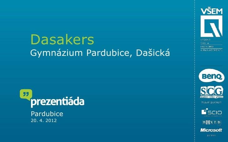 DasakersGymnázium Pardubice, DašickáPardubice20. 4. 2012