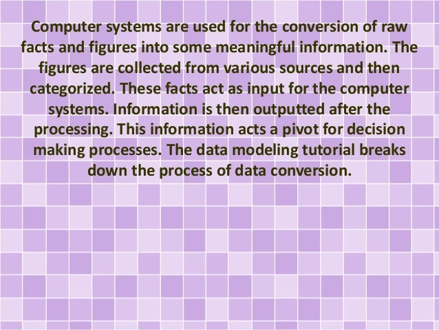 A Quick Look At The Data Modeling Tutorial