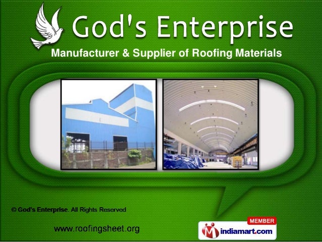 Manufacturer & Supplier of Roofing Materials