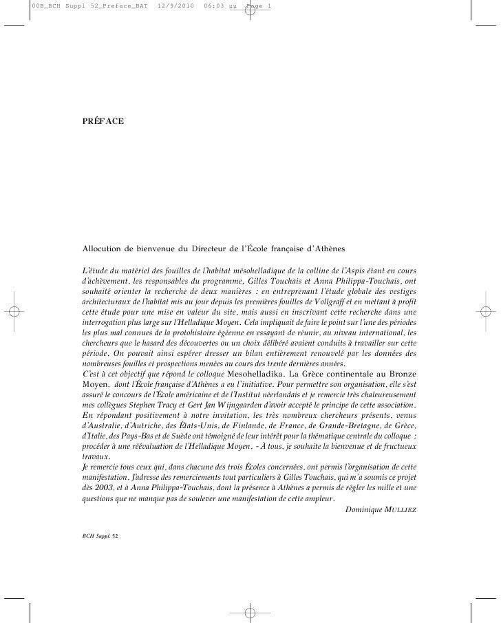INTRODUCTIONL'Helladique Moyen, période qui correspond, en gros, à la première moitié du IIe millénaireavant notre ère, s'...
