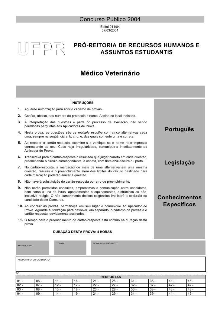 Concurso Público 2004                                                                                                     ...