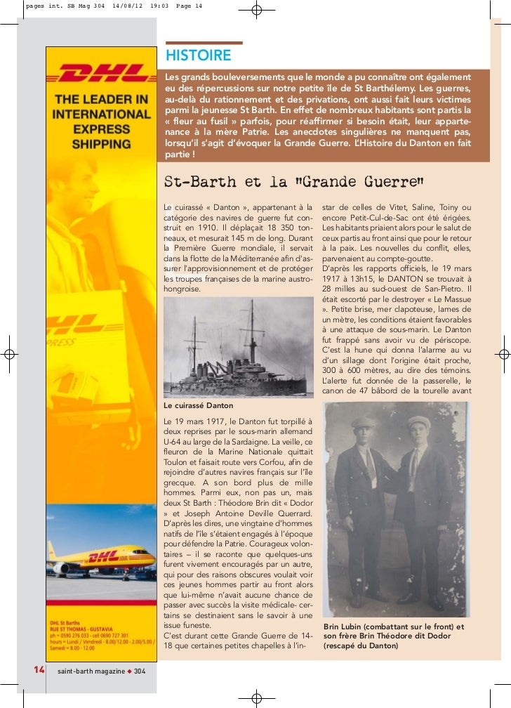 pages int. SB Mag 304   14/08/12     19:03   Page 14                                         HISTOIRE                     ...