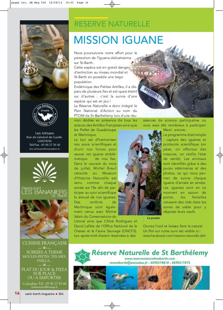 pages int. SB Mag 304   14/08/12     19:03    Page 16                                             RESERVE NATURELLE       ...
