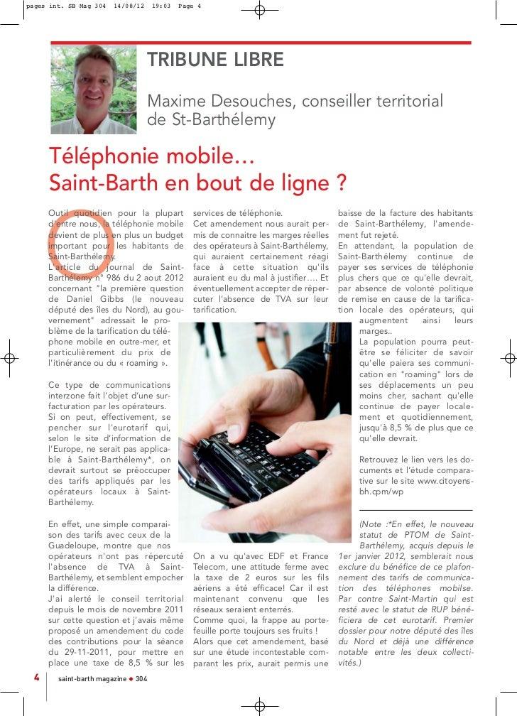 pages int. SB Mag 304   14/08/12     19:03   Page 4                                     TRIBUNE LIBRE                     ...