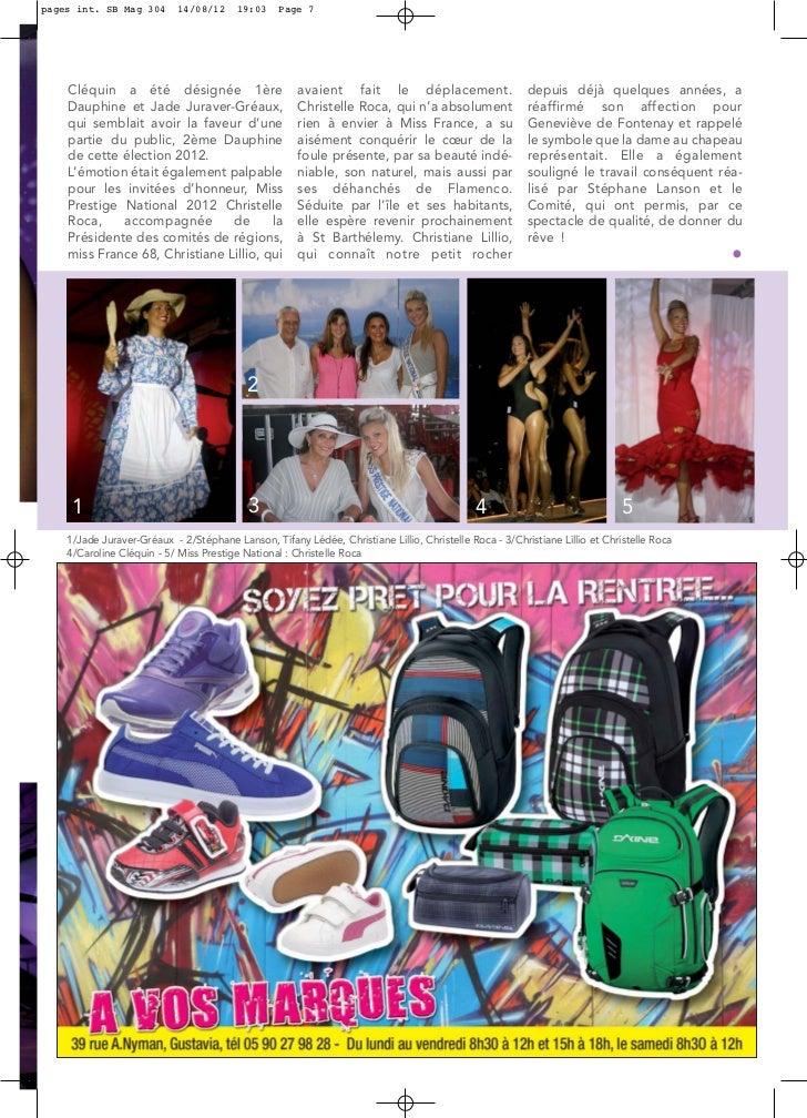 pages int. SB Mag 304       14/08/12     19:03    Page 7    Cléquin a été désignée 1ère                       avaient fait...