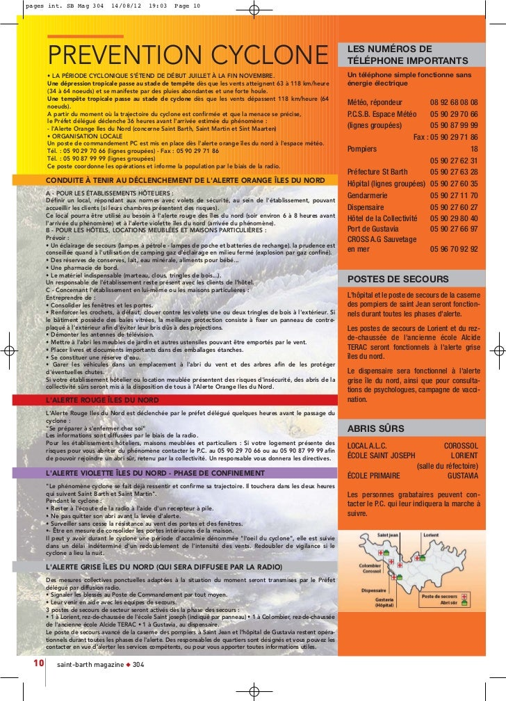 pages int. SB Mag 304          14/08/12      19:03     Page 10       PREVENTION CYCLONE                                   ...