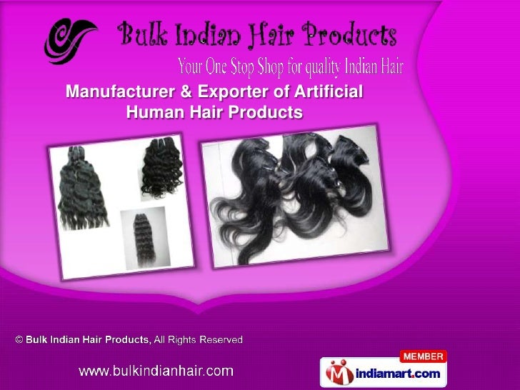 Manufacturer & Exporter of Artificial      Human Hair Products