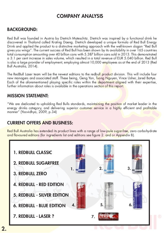 Red Bull Distribution >> Redbull Laser - Product Strategy.