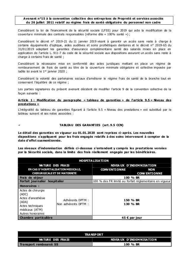 Avenant n°15 à la convention collective des entreprises de Propreté et services associés du 26 juillet 2011 relatif au rég...