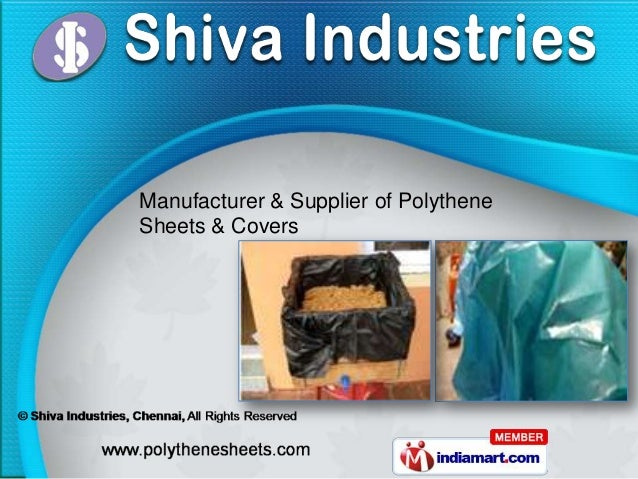 Manufacturer & Supplier of PolytheneSheets & Covers