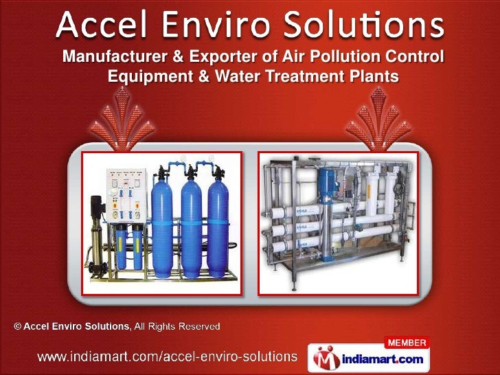 Manufacturer & Exporter of Air Pollution Control    Equipment & Water Treatment Plants