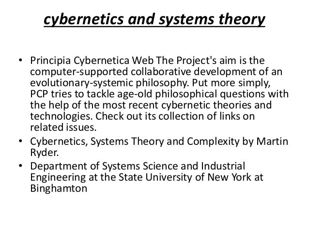 Cybernetics: The Center of Science's Future
