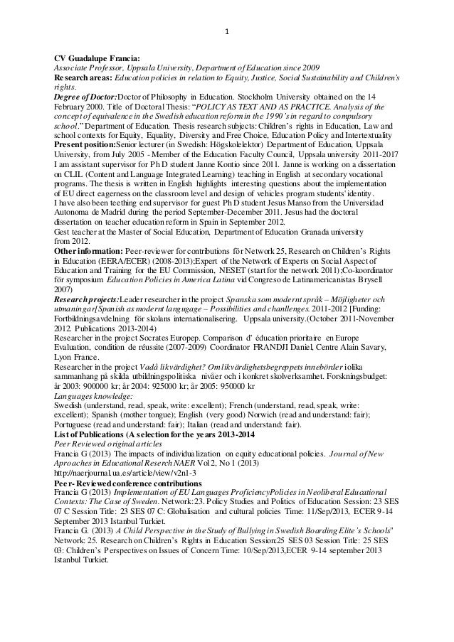 short cv and publication list 2010