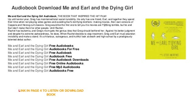 me and earl and the dying girl pdf download