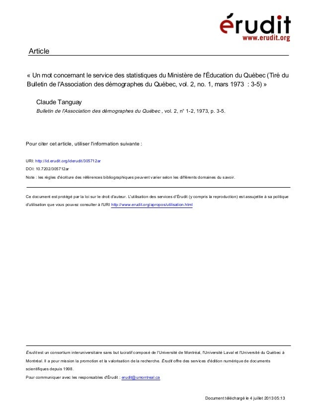 Érudit est un consortium interuniversitaire sans but lucratif composé de l'Université de Montréal, l'Université Laval et l...