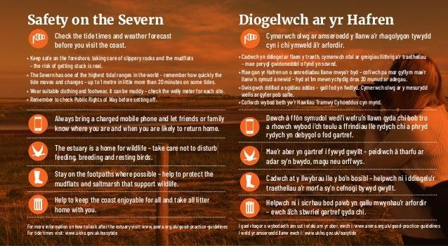 Check the tide times and weather forecast before you visit the coast. Cymerwch olwg ar amseroedd y llanw a'r rhagolygon ty...