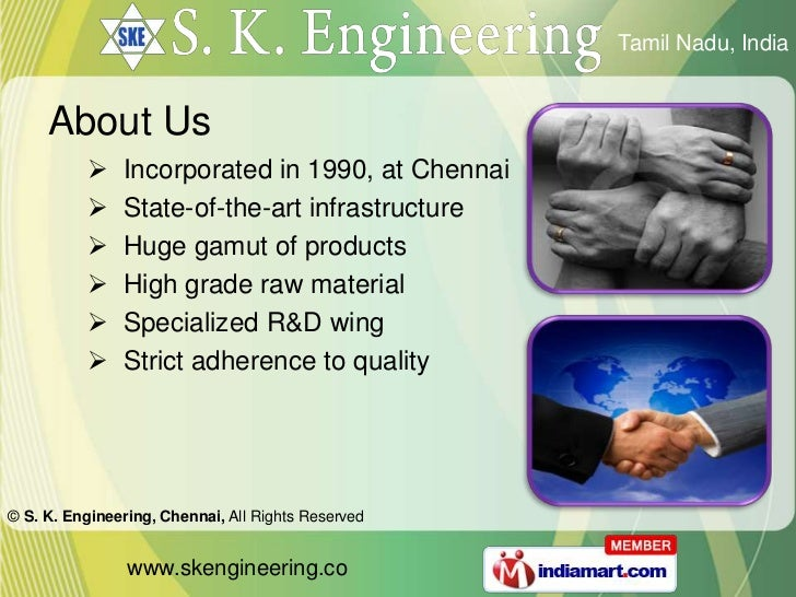 S  K  Engineering Tamil Nadu India