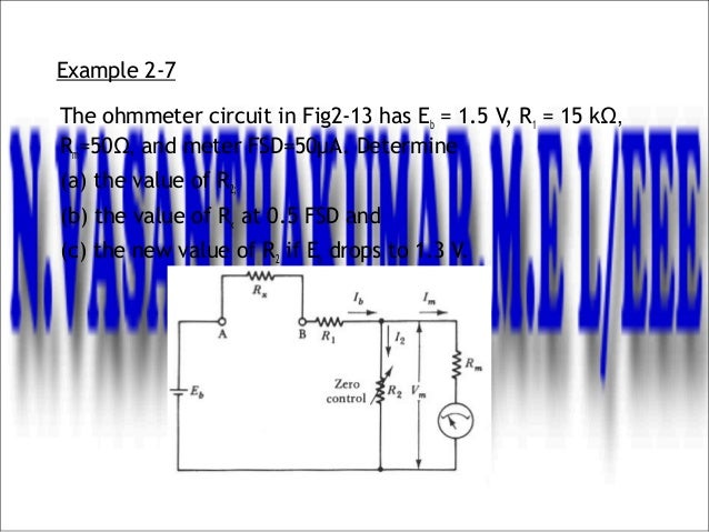 Example Of Ohmmeter Circuit :