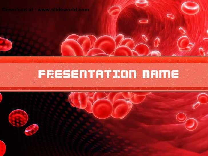 Red blood cell powerpoint ppt templates for Blood ppt templates free download