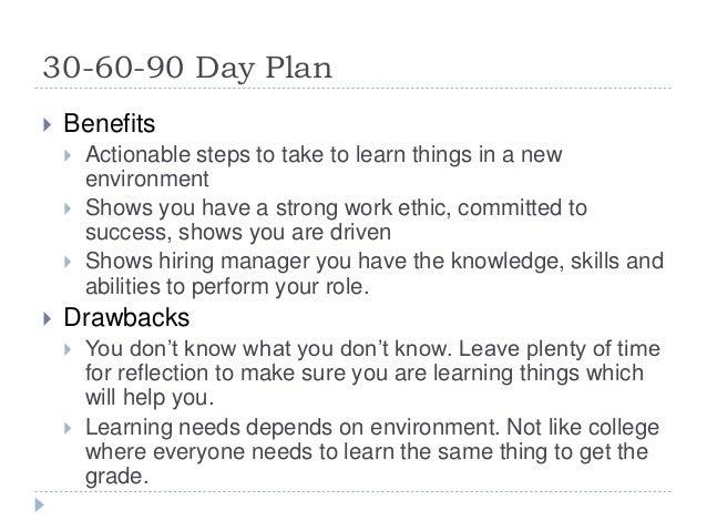 30 60 90 Day Plan ...
