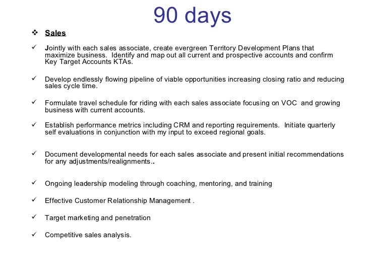 30 , 60, 90 Days Plan To Meet Goals For New Organization