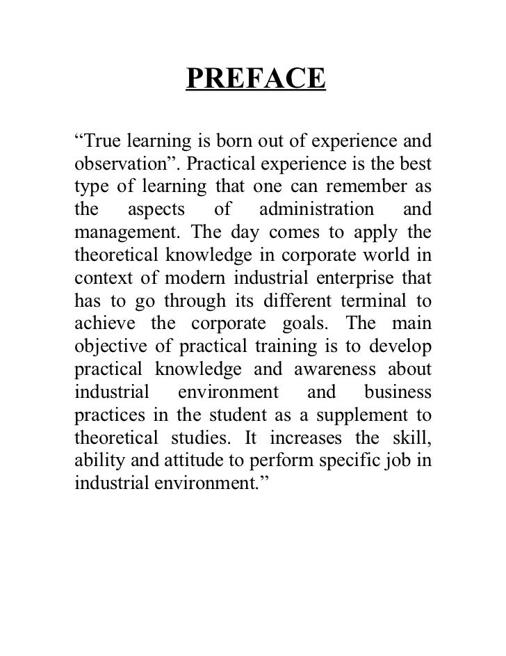"""PREFACE""""True learning is born out of experience andobservation"""". Practical experience is the besttype of learning that one..."""